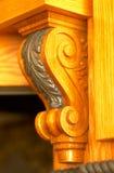 Trabajo de madera: Diseño floral. Imágenes de archivo libres de regalías