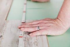 Trabajo de madera exacto Imágenes de archivo libres de regalías