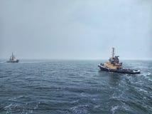 Trabajo de Mares del Norte foto de archivo
