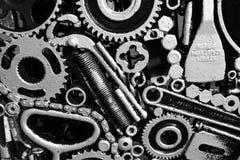 Trabajo de metalistería abstracta blanco y negro Fotos de archivo