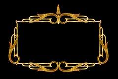 Trabajo de metalistería de la vendimia como frontera, marco Imagen de archivo libre de regalías