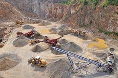 Trabajo de piedra de la mina Fotografía de archivo libre de regalías