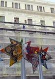 Trabajo de renovación en el Museo Nacional de bellas arte, Havana Cuba fotos de archivo