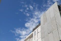 Trabajo de renovación de la imagen de la reparación del gran escala del edificio Fotografía de archivo