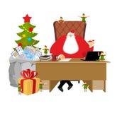 Trabajo de Santa Claus Letras de niños El saco grande de correo envuelve fotos de archivo