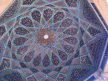 Trabajo del azulejo, tumba de Hafez, Irán Imágenes de archivo libres de regalías