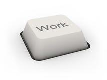 Trabajo del botón Imagen de archivo libre de regalías
