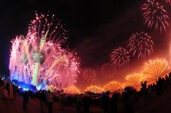 Trabajo del fuego de las torres de Kuwait Imagen de archivo