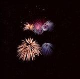 Trabajo del fuego en forma de la flor Imagen de archivo libre de regalías