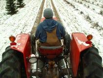 Trabajo del invierno Imagen de archivo libre de regalías