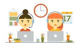Trabajo del servicio de atención al cliente Imagen de archivo libre de regalías