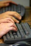 Trabajo del teclado imagen de archivo libre de regalías