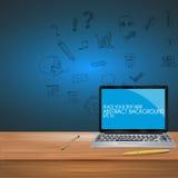 Trabajo del vector del ejemplo del ordenador portátil, para el diseño Libre Illustration