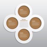 Trabajo del vector, Infographic abstracto para el diseño y Propos creativo Fotografía de archivo libre de regalías
