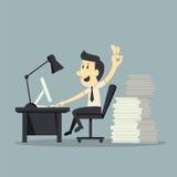 Trabajo duro ilustración del vector