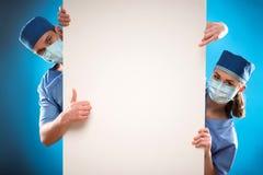 Trabajo duro de doctores Foto de archivo libre de regalías