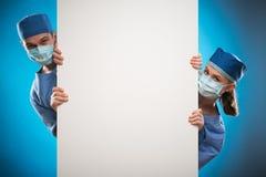 Trabajo duro de doctores Foto de archivo