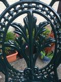 Trabajo em metal verde ornamentado Fotografia de Stock