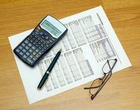 Trabajo en el presupuesto Imagen de archivo