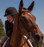 Trabajo en equipo, adolescente y caballo Foto de archivo libre de regalías