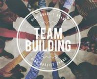 Trabajo en equipo Concep de Team Building Collaboration Connection Corporate Foto de archivo libre de regalías