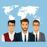 Trabajo en equipo de la gente de comercio mundial ilustración del vector