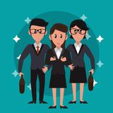 Trabajo en equipo de los banqueros del negocio ilustración del vector
