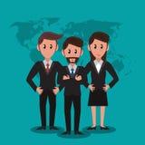 Trabajo en equipo de los banqueros del negocio stock de ilustración