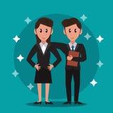 Trabajo en equipo de los banqueros del negocio libre illustration