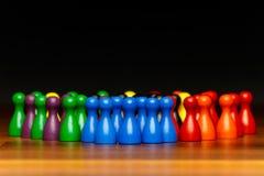Trabajo en equipo del concepto, organización, multicolor del grupo Fotografía de archivo