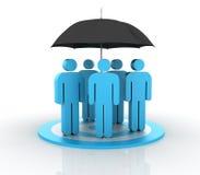 Trabajo en equipo del seguro ilustración del vector