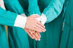 Trabajo en equipo médico Imágenes de archivo libres de regalías