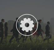 Trabajo en equipo Team Collaboration Connection Gear Organisation Fotos de archivo libres de regalías