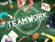 Trabajo en equipo Team Collaboration Cooperation Concept Imagen de archivo