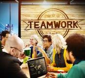 Trabajo en equipo Team Collaboration Cooperation Concept Fotos de archivo