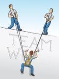 Trabajo en equipo (vector) Foto de archivo