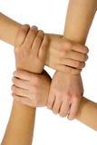 Trabajo en equipo y amistad Imagen de archivo