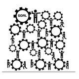 Trabajo en equipo y formación de equipo para el concepto del negocio ilustración del vector