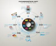 Trabajo en equipo y reunión de reflexión de Infographic con estilo plano Imágenes de archivo libres de regalías