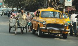 Trabajo en Kolkata foto de archivo