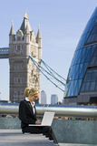 Trabajo en Londres Fotos de archivo libres de regalías
