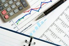 Trabajo financiero. Imagen de archivo libre de regalías