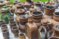 Trabajo hecho a mano rústico de la cerámica cerámica fotografía de archivo libre de regalías