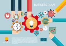 Trabajo infographic del equipo de la compañía de los engranajes del plan empresarial Foto de archivo