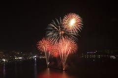 Trabajo internacional 2015 del fuego de Pattaya Imágenes de archivo libres de regalías