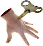 Trabajo manual de la mano automática Fotos de archivo libres de regalías