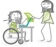 Trabajo o escuela y personas discapacitadas Foto de archivo