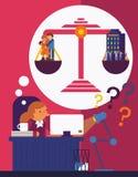 ¿Trabajo o familia? Imagen de archivo libre de regalías