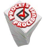 Trabajo ocupado de la tarea del procedimiento del flujo de trabajo de la pila de proceso del papeleo Fotografía de archivo libre de regalías