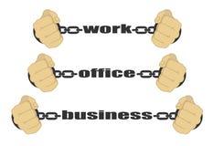 Trabajo, oficina, muestras del negocio Imagenes de archivo